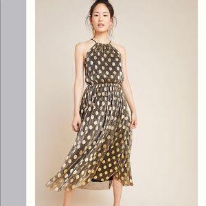 NEW Anthro Sunday Brooklyn Confetti Halter Dress M